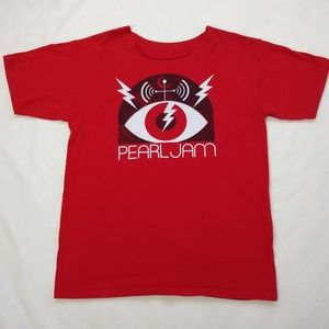 Pearl Jam Red Short Sleeve T-Shirt